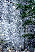 Rock Climbing Photo: up high in smoke tunnel, while whit is starting ou...