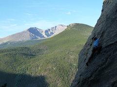 Rock Climbing Photo: Reaching big on my first outdoor climb.