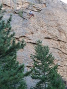 Rock Climbing Photo: Nearing the anchors.