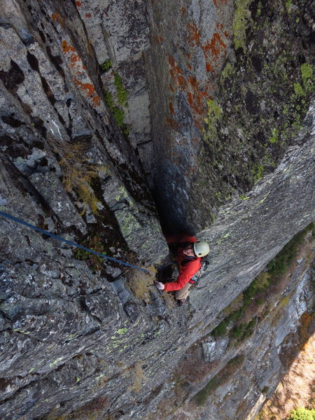 Rock Climbing Photo: caughtinside nears the alcove belay at the top of ...