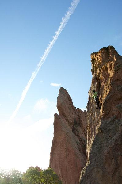 Rock Climbing Photo: Joe Garland sending 'Potholes', Oct. 2013.