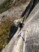 Rock Climbing Photo: The Ghost Cannon Cliff with Jon Sykes on jugs