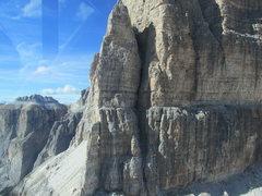 Rock Climbing Photo: Lower segment of route from Seilbahn.
