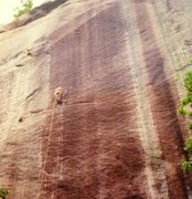 Rock Climbing Photo: Solo second pitch on bat hooks is always a great o...
