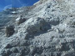 Rock Climbing Photo: Easy terrain near top of route.