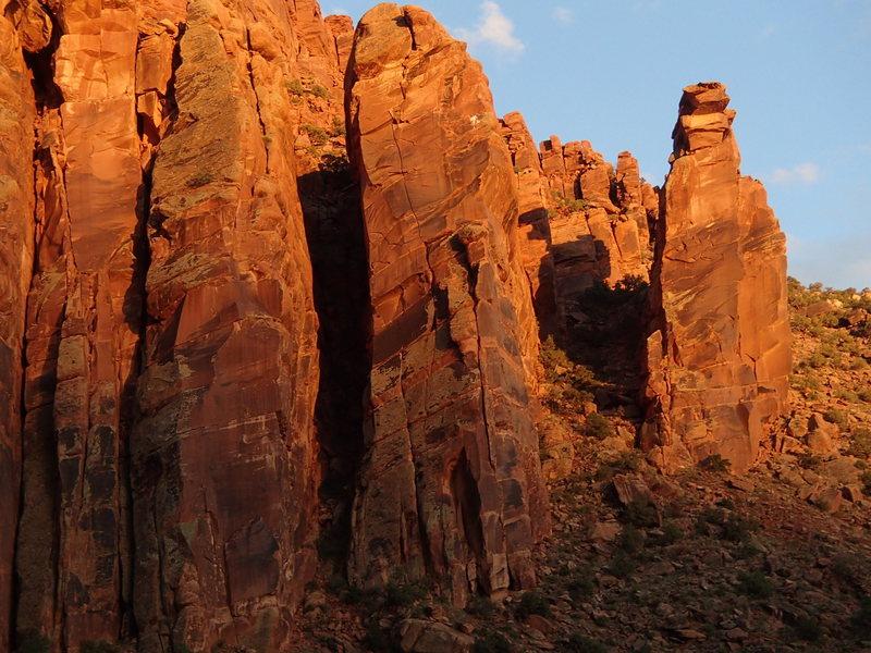 Rock Climbing Photo: Tower of Power at sunset.