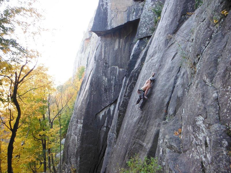 Rock Climbing Photo: Doug Kern edging up the technical face