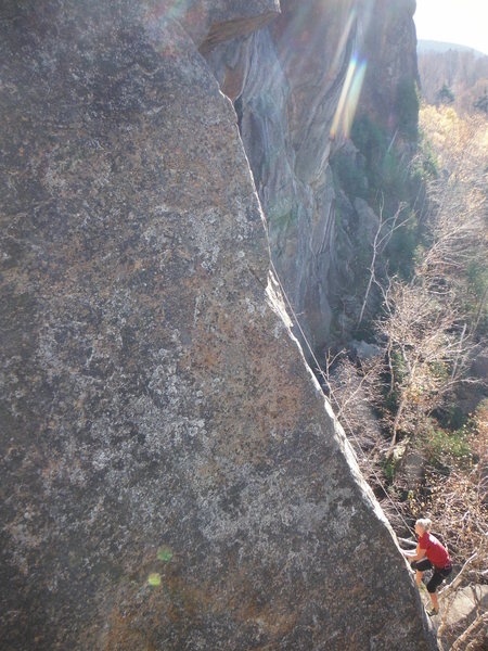 Rock Climbing Photo: Eat Yourself a Pie arete