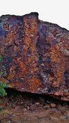 Rock Climbing Photo: Googol One problem on the Boxcar Boulder.