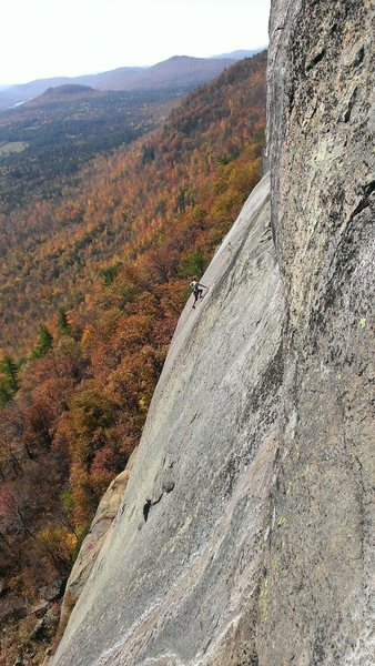 Rock Climbing Photo: Climber on pitch 3 of Brazilian