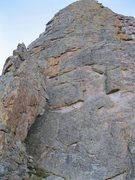 Rock Climbing Photo: West Side Highway climbs the first easy buttress s...