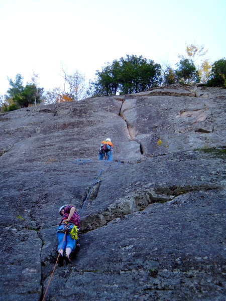 """Rock Climbing Photo: First and second  pitch of """"La Crack du plomb..."""
