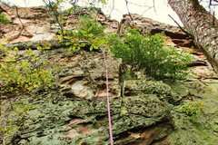Rock Climbing Photo: Middle Finger Wall  High Five (5.5) trad  Crowders...