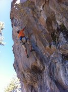 Rock Climbing Photo: pulling the crux section