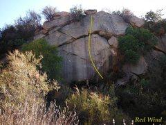 Rock Climbing Photo: 'Red Wind'
