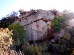 Rock Climbing Photo: Michael Kaffel top roping 'Red Wind'.