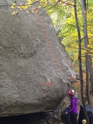 Rock Climbing Photo: This photo shows commonly used starting holds and ...