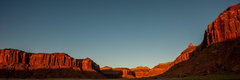 Rock Climbing Photo: Sunset shot taken from the Beef Basin turnoff.