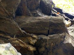 Rock Climbing Photo: Close up of the Petrified Log for which the route ...