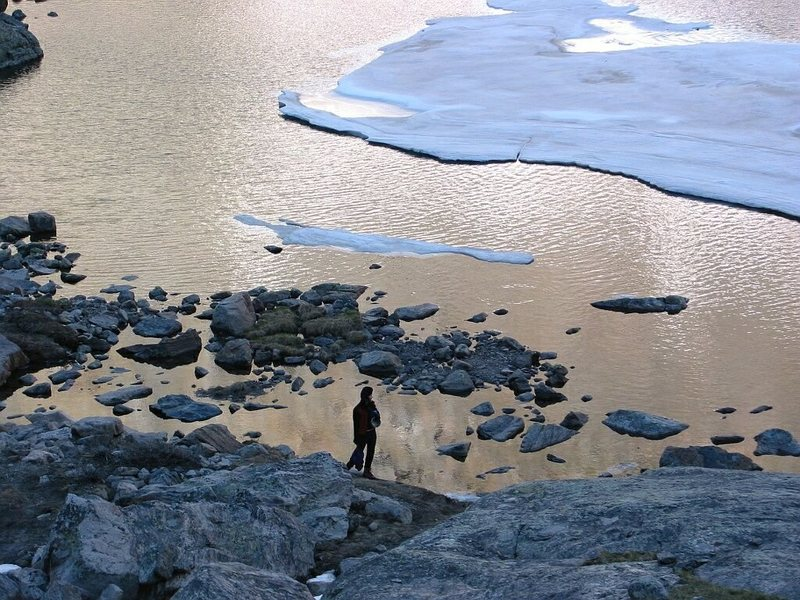 Rock Climbing Photo: Evening before at Sky Pond.