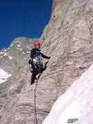 Rock Climbing Photo: Scramble start of Petit Grepon.