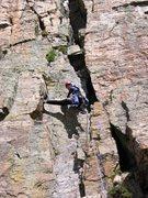 Rock Climbing Photo: Pitch 3 - 2nd chimney.