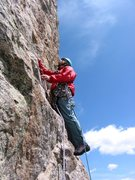 Rock Climbing Photo: 4th pitch.