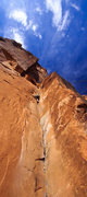 Rock Climbing Photo: Grant seconding 30 Seconds Over Potash on a beauti...