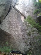 Rock Climbing Photo: find the rope in this picture, this is the line