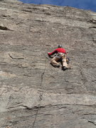 Rock Climbing Photo: Mark in the middle of Butteous Maximus (5.7+**, on...