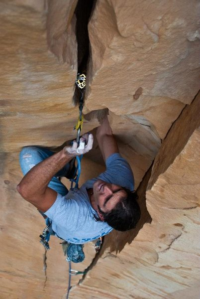 Rock Climbing Photo: wham bam hand jam. Wrapping up the final moves of ...