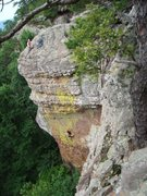 Rock Climbing Photo: Top-Roping Inherit the Wind. Anchors easy to acces...