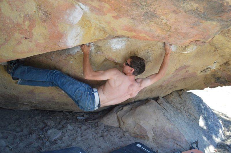 Rock Climbing Photo: Long person beta.