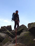 Rock Climbing Photo: On the summit with Debbie McLain.