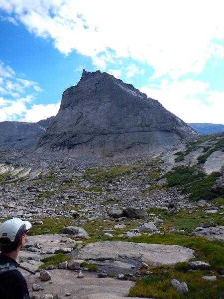 Rock Climbing Photo: Profile of the North Ridge with Charles Goldman.