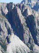 "Rock Climbing Photo: Stevia Group, Torre Firenze; ""Glueck Arete;&q..."