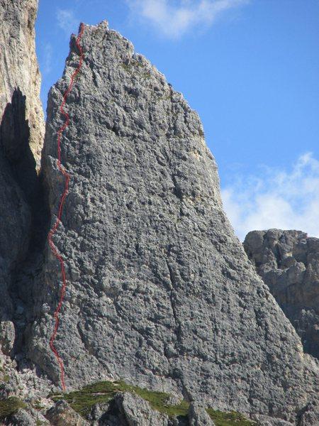 Rock Climbing Photo: Fanis Group, Kleiner Falzaregoturm (Torre Piccola ...
