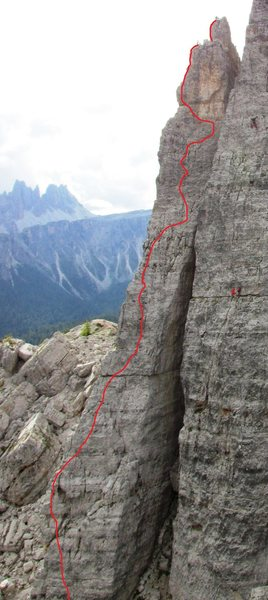 Rock Climbing Photo: Cinque Torri, Torre Lusy, Via Normale; UIAA Gr. IV...