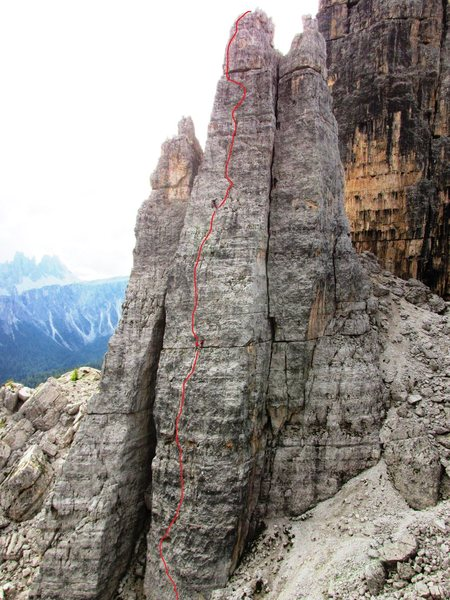 Rock Climbing Photo: Cinque Torri, Torre Barancio, North Face (via Norm...