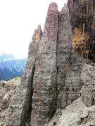 Rock Climbing Photo: Cinque Torri, Torre Barancio, North Face (via Norm...
