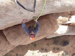 Rock Climbing Photo: at the pin