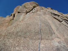 Rock Climbing Photo: The route is to the left of the rope.