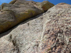 Rock Climbing Photo: The second pitch crack, on the left.