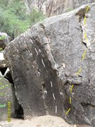 Rock Climbing Photo: The Force is with You is the route in white, this ...