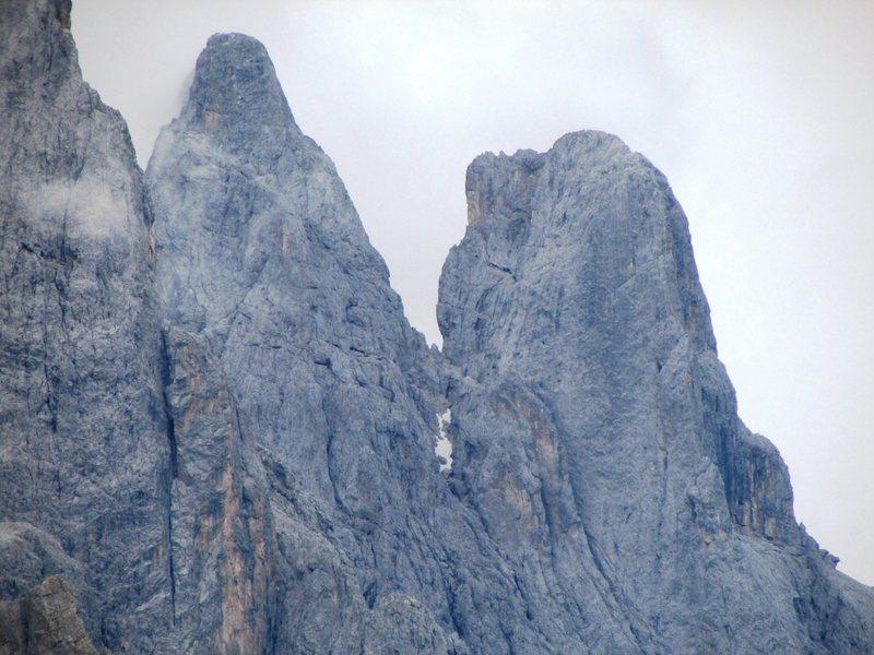 Rock Climbing Photo: Cima della Madonna on Right, Sass Maor on Left.