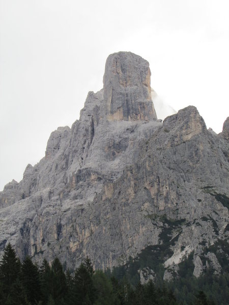 Cima della Madonna from the highway nearest the peak.