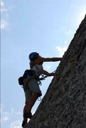Rock Climbing Photo: Debbie McLain hopping on the Bunny Slopes and &quo...