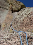 Rock Climbing Photo: The upper part of the route.