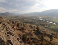 Rock Climbing Photo: View south down the Okanogan from the top of the W...