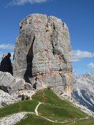 Rock Climbing Photo: Cinque Torri, Torre Grande W. Summit, Bergfuehrerw...
